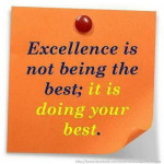 It's Not About 'Being the Best' But 'Doing Your Best'